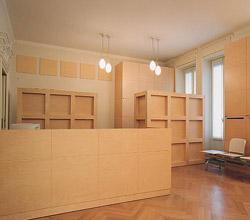 Realizzazione mobili su disegno dell 39 architetto milano for Mobili per reception ufficio
